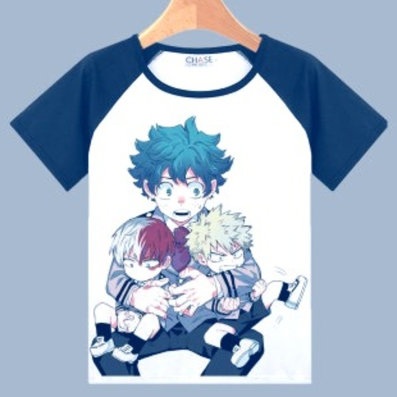 My Hero Academia T Shirt Midoriya Bakugo Todoroki Nwt